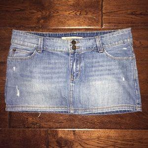 Hollister Distressed Denim Mini Skirt