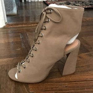 Vince Camuto lace up booties