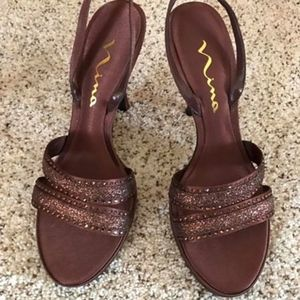 Bronze Nina Heels