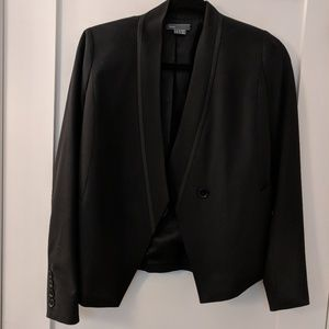 Vince black piped blazer