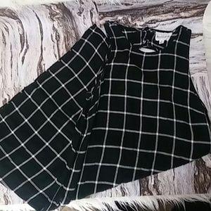 Gorgeous grid print olive and oak shift dress