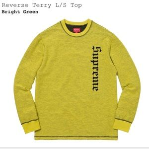 REAL Supreme Terry L/S top (sweater)