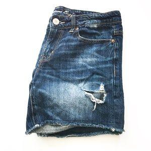 American Eagle Distressed Boyfriend Denim Shorts