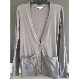 Forever 21 Gray Fitted Cardigan