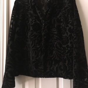 Gorgeous black part veloure blouse