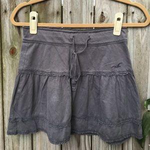Hollister grey cotton skirt