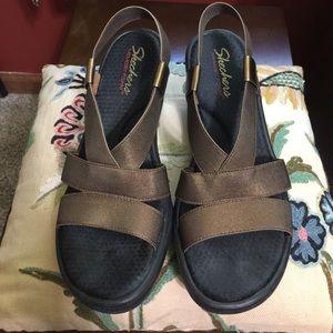 Skechers Memory Foam Bronze Sandals