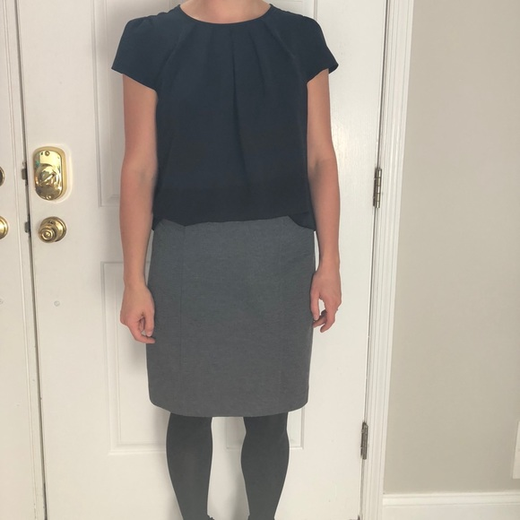 New York & Company Dresses & Skirts - Structured & Stretchy Gray Pencil Skirt