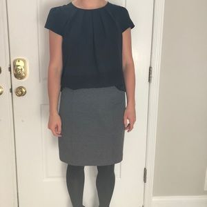 Structured & Stretchy Gray Pencil Skirt