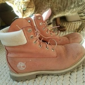 Vintage PINK womens Timberland Boots