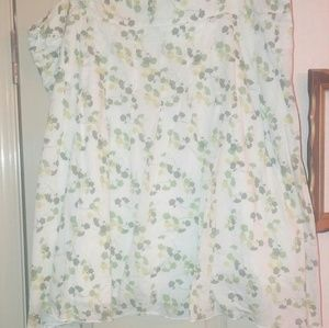 American eagle green floral a line skirt 18