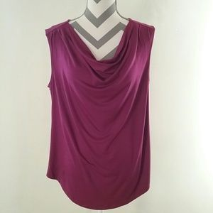 Ann Taylor factory purple sleeveless blouse