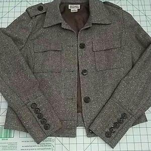 Michael Kors jacket brown tweed size 8
