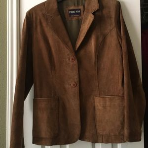 Suede Brown Jacket! Dropped $ to sell fast!