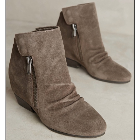 5631bfcd7e7 Taupe Hidden Wedge Boots. NWT. Anthropologie