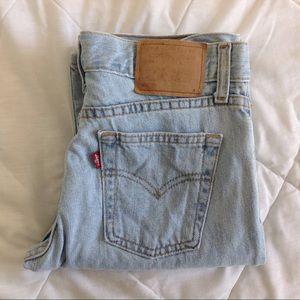 1990s LEVIS 507 straight leg mid rise jeans