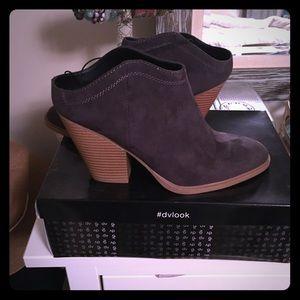 Grey dolce Vita mule booties size 9