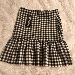 BNWT Boohoo Gingham Mini Skirt