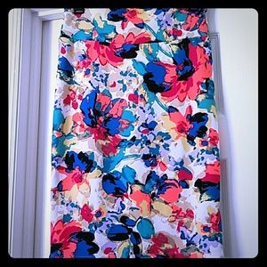 S LuLaRoe Cassie Pencil Skirt Gorgeous Floral