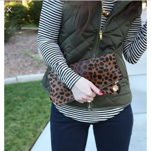 Gap army green quilted vest
