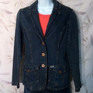 Levi Strauss Women's Blue Denim Blazer Jacket