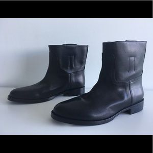 RAG & BONE HOLLY BLACK LEATHER ANKLE BOOTS