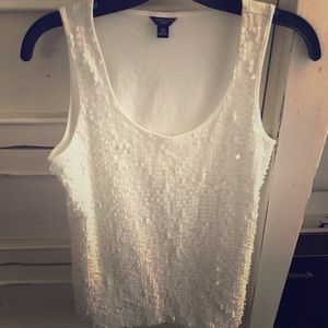 Ann Taylor Sequin Top