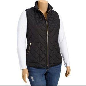 Old navy black quilted vest