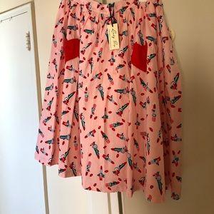 Lindy bop lipstick print skirt