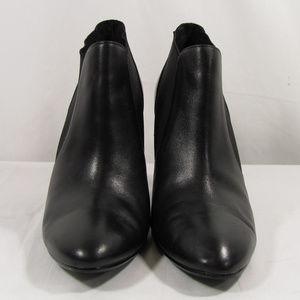 Worthington Black Leather High Heel Bootie