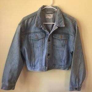 90's Cropped Denim Jacket