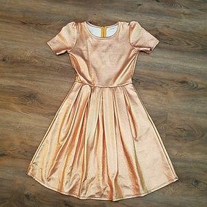 LuLaRoe RARE Elegant Collection Rose Gold Amelia