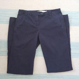 J.Crew Navy Chino Bootcut Pant Size 6Tall