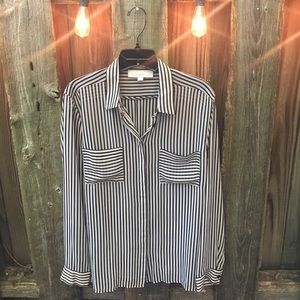 LOFT size Large woven top. Barely worn.