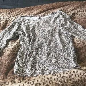 Victoria's secret long sleeve cheetah print top
