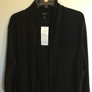 NWT Eileen Fisher black button down dress sz XL