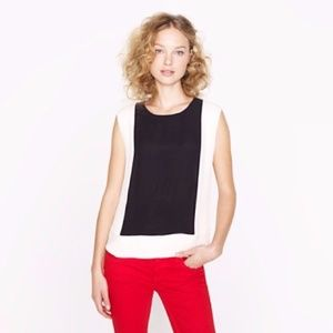 J Crew color block shell lined tank