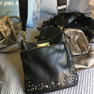 Juicy couture cross body leather purse