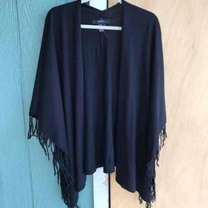 Black fringed shrug