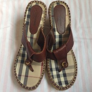 Shoes - Authentic burberry thong sandal