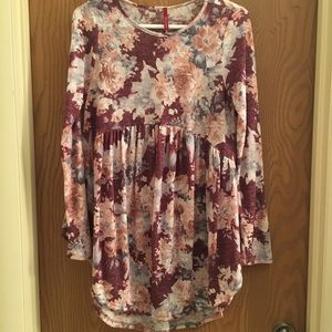 Tops - Floral Babydoll Tee