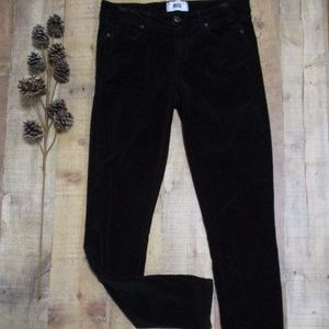 Paige Black Velour Verdugo Ultra Skinny Jeans 29