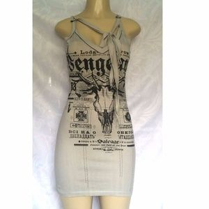 SALVAGE Dress Mini Tank Top Fitted  Lace XS