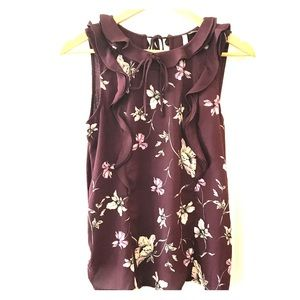 LC Lauren Conrad wine and floral top