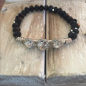 Jewelry - 👀 BLACK and Silver Crystal Bead BRACELET