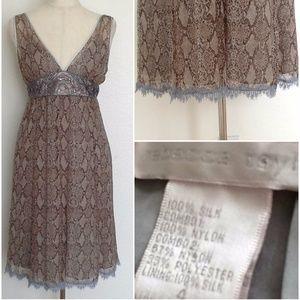 Rebecca Taylor Silk Python Eyelash Lace Dress 4