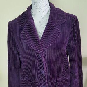Elevenses purple corderoy jacket plus size