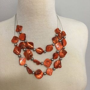 Pretty fall colors in this necklace