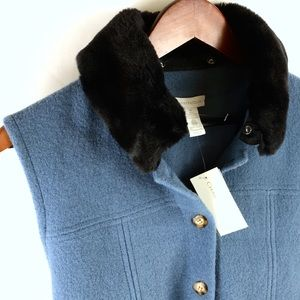 💠NWT CHARTER CLUB WOOL VEST REMOVABLE COLLAR