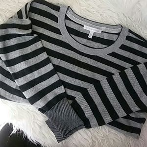 Victoria secret textured stripe thermal sweater